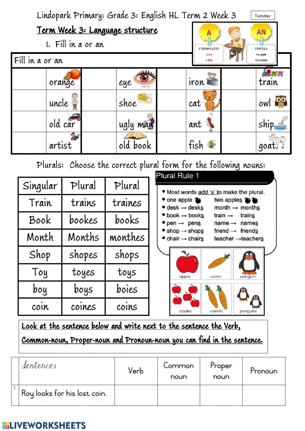Phonics Worksheets Grade 3 Grade 3 English Hl Term 1 Week 3 Phonic Oi Worksheet 2