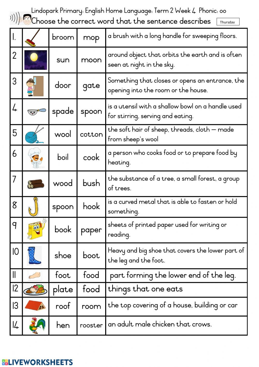 Phonics Worksheets Grade 3 Grade 3 English Term 2 Week 4 Worksheet 4 Thursday