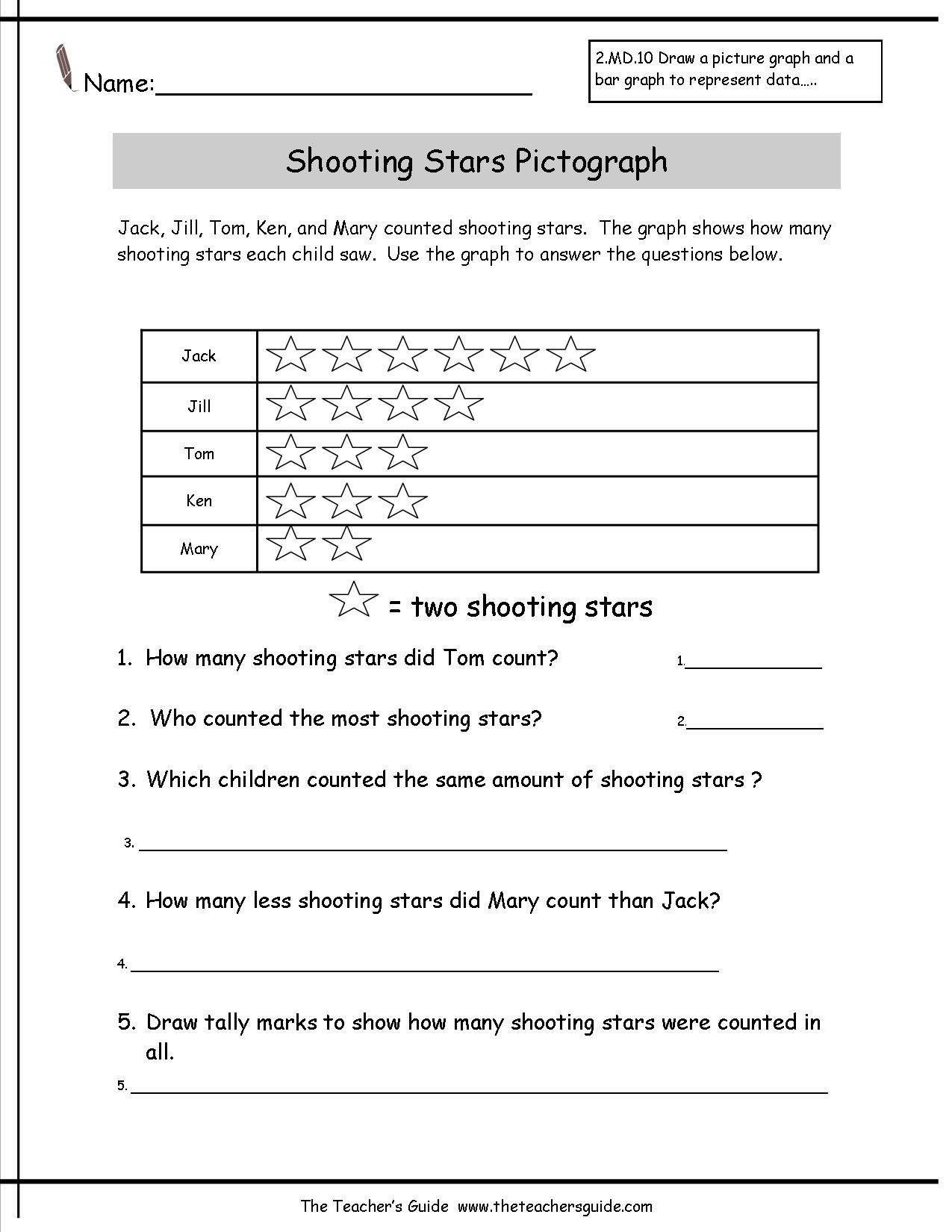 Pictograph Worksheets 3rd Grade Worksheet Pictographs Worksheets Reading and Creating
