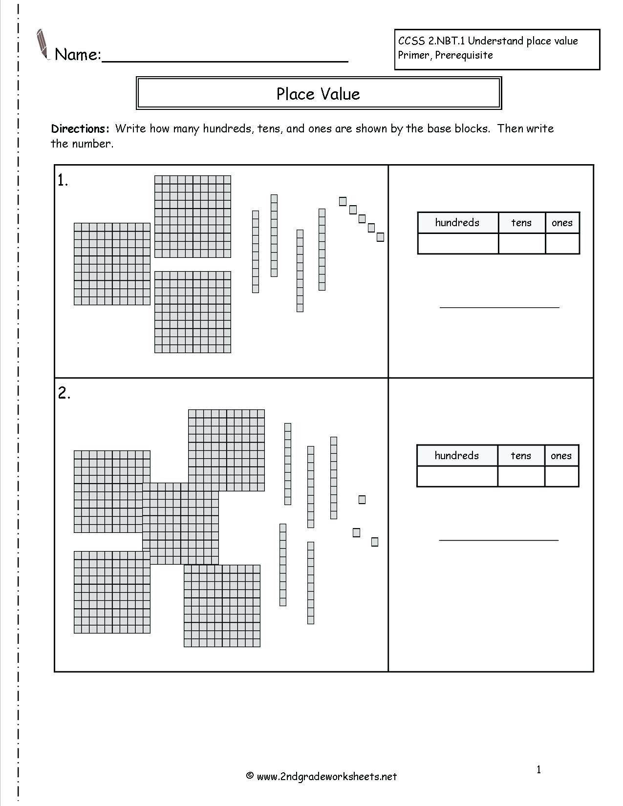 Place Value 2nd Grade Worksheet 2nd Grade Place Value Worksheets Place Value Worksheets