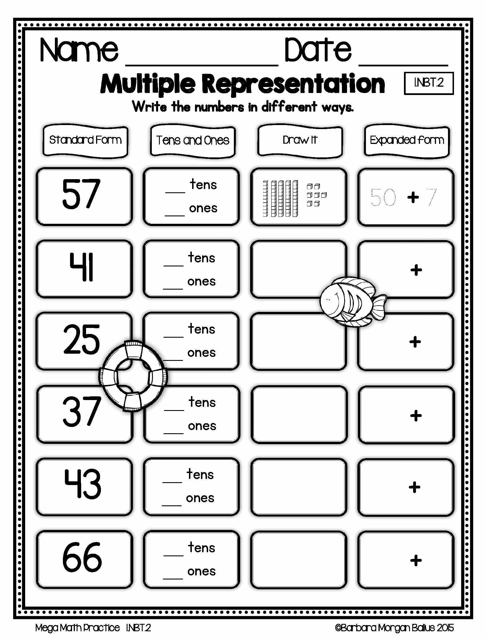 Place Value First Grade Worksheets Number Sense Google Slides Place Value First Grade Math