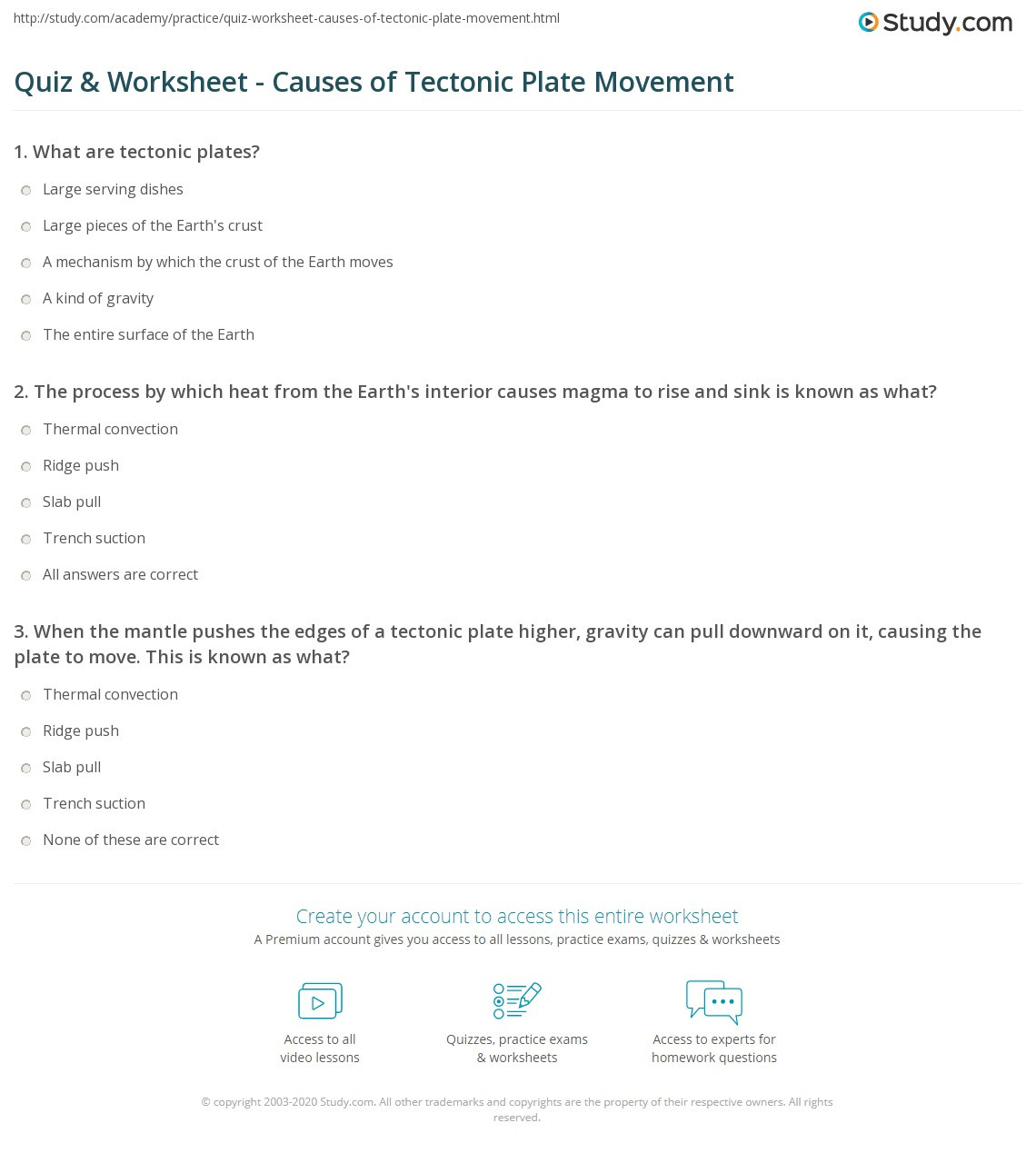 Plate Tectonics Worksheet 6th Grade Worksheet Crustal Boundaries