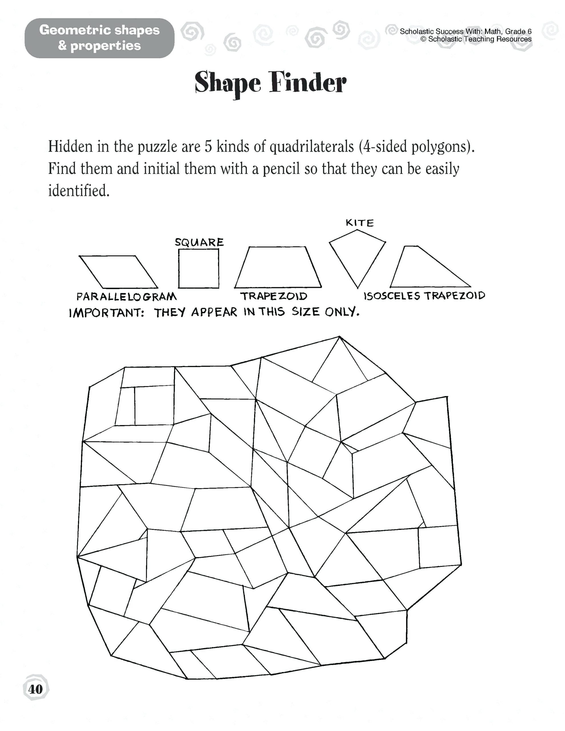 Polygon Worksheets 4th Grade Parallelogram Worksheets Math Grade Quadrilaterals Worksheet