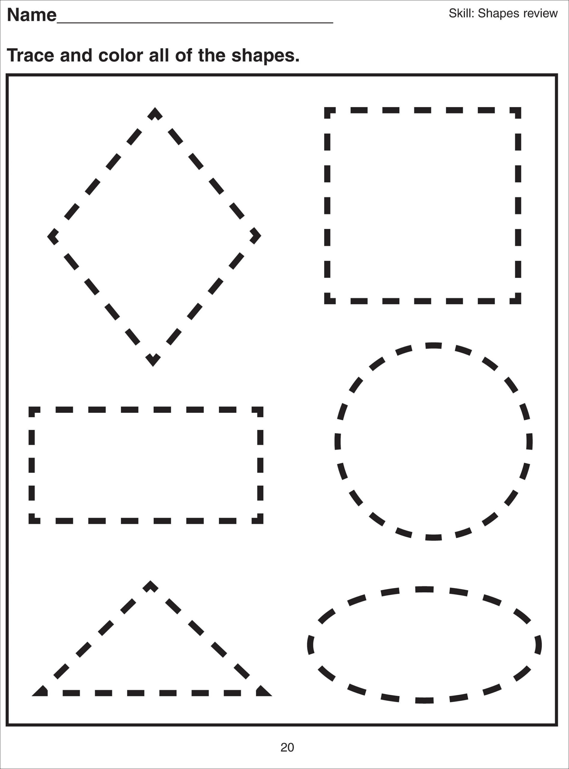 Polygon Worksheets 4th Grade Shape Tracing Worksheets for Print Free Multiplication Table