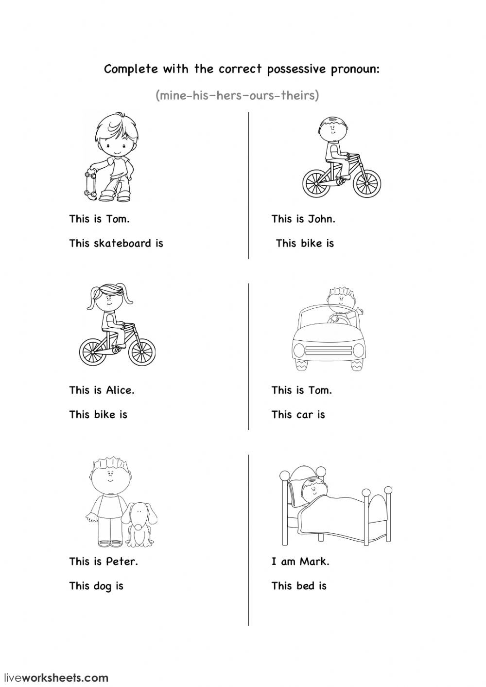 Possessive Pronouns Worksheet 2nd Grade Possessive Pronouns Worksheet