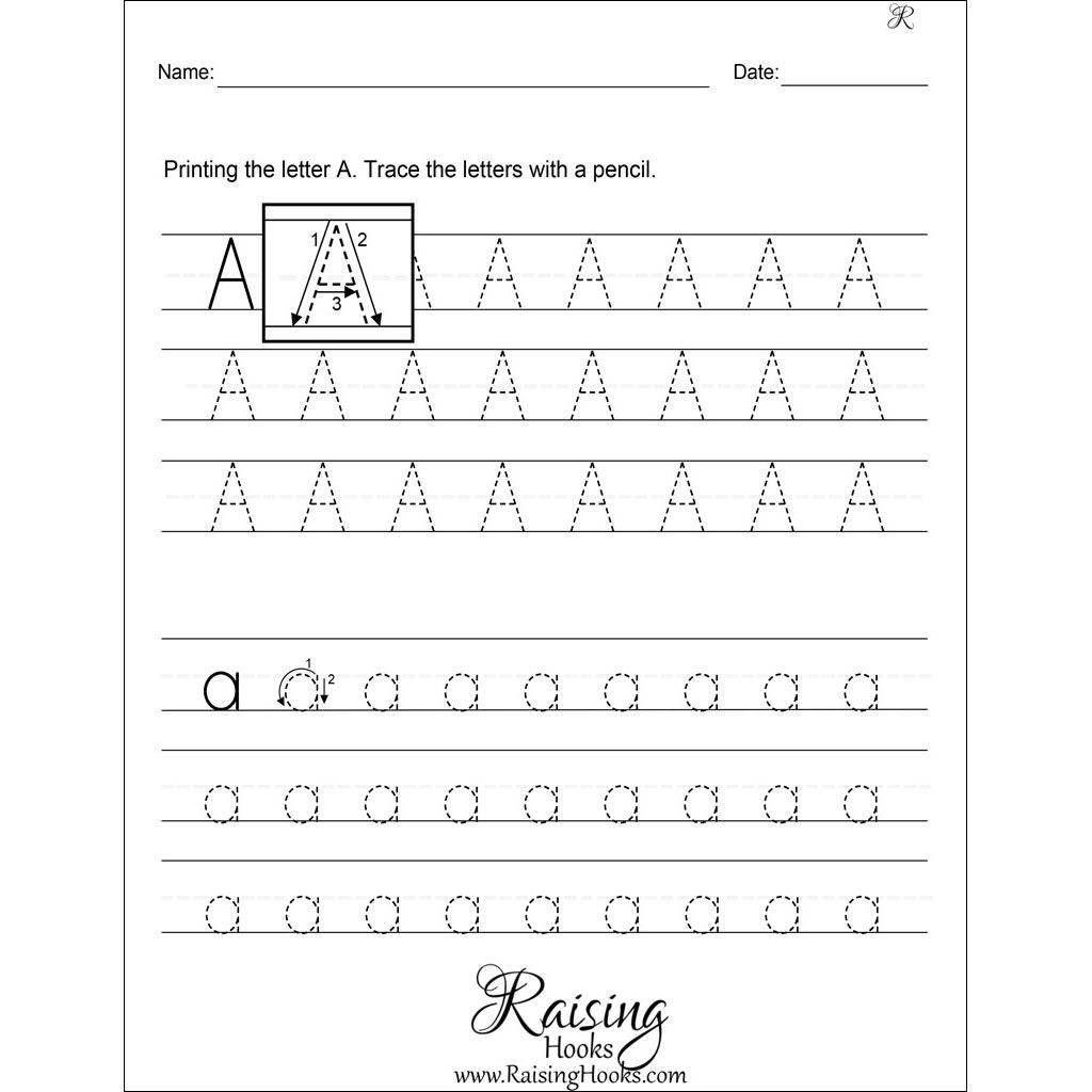 Practice Writing Hooks Worksheet Tracing Each Letter A Z Worksheets In 2020 with Images