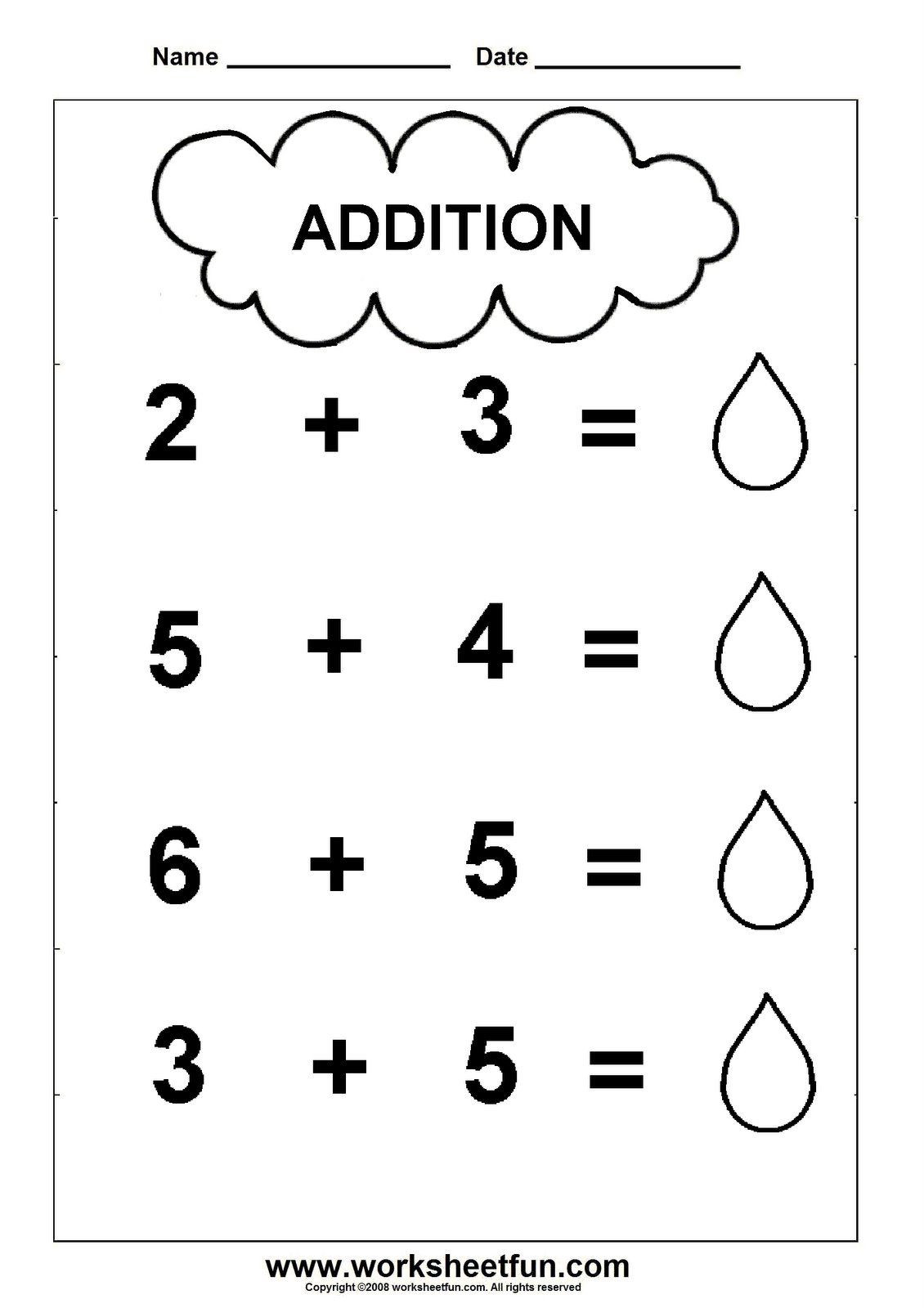 Pre K Math Worksheets Pre Addition Worksheets Worksheet theme Math Division Sums