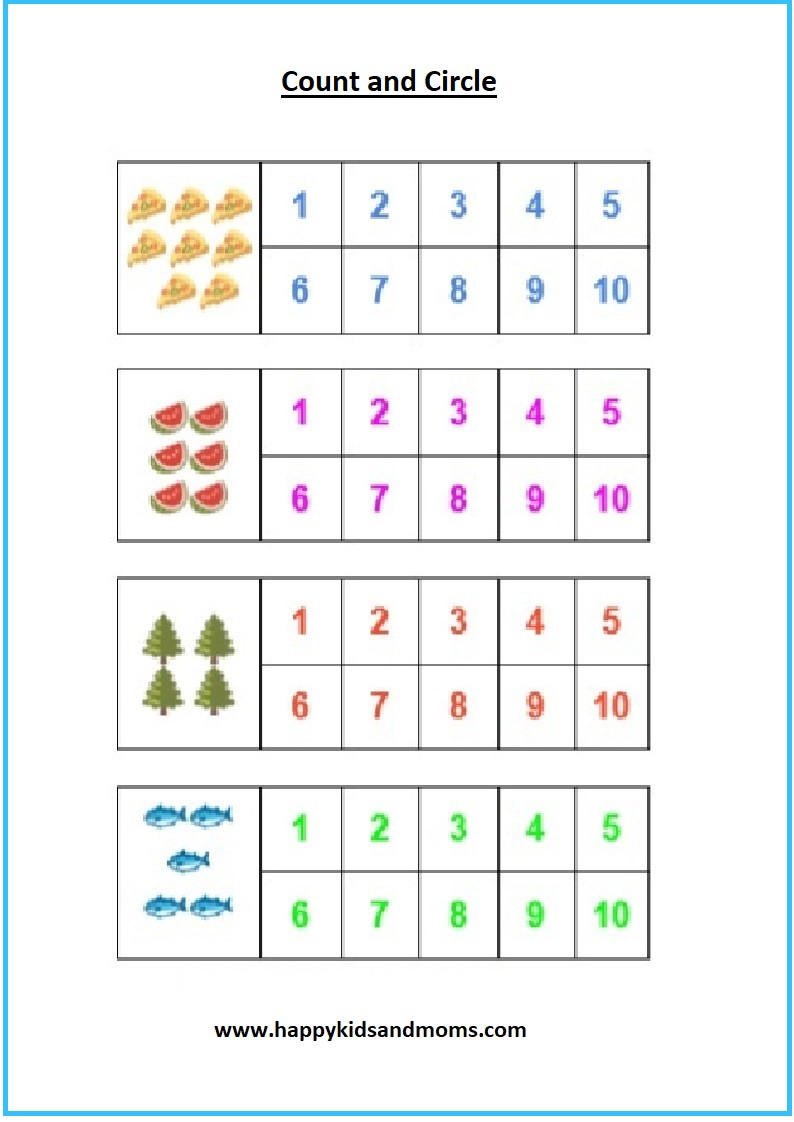 Pre K Math Worksheets Preschool Math Worksheets Counting Worksheets
