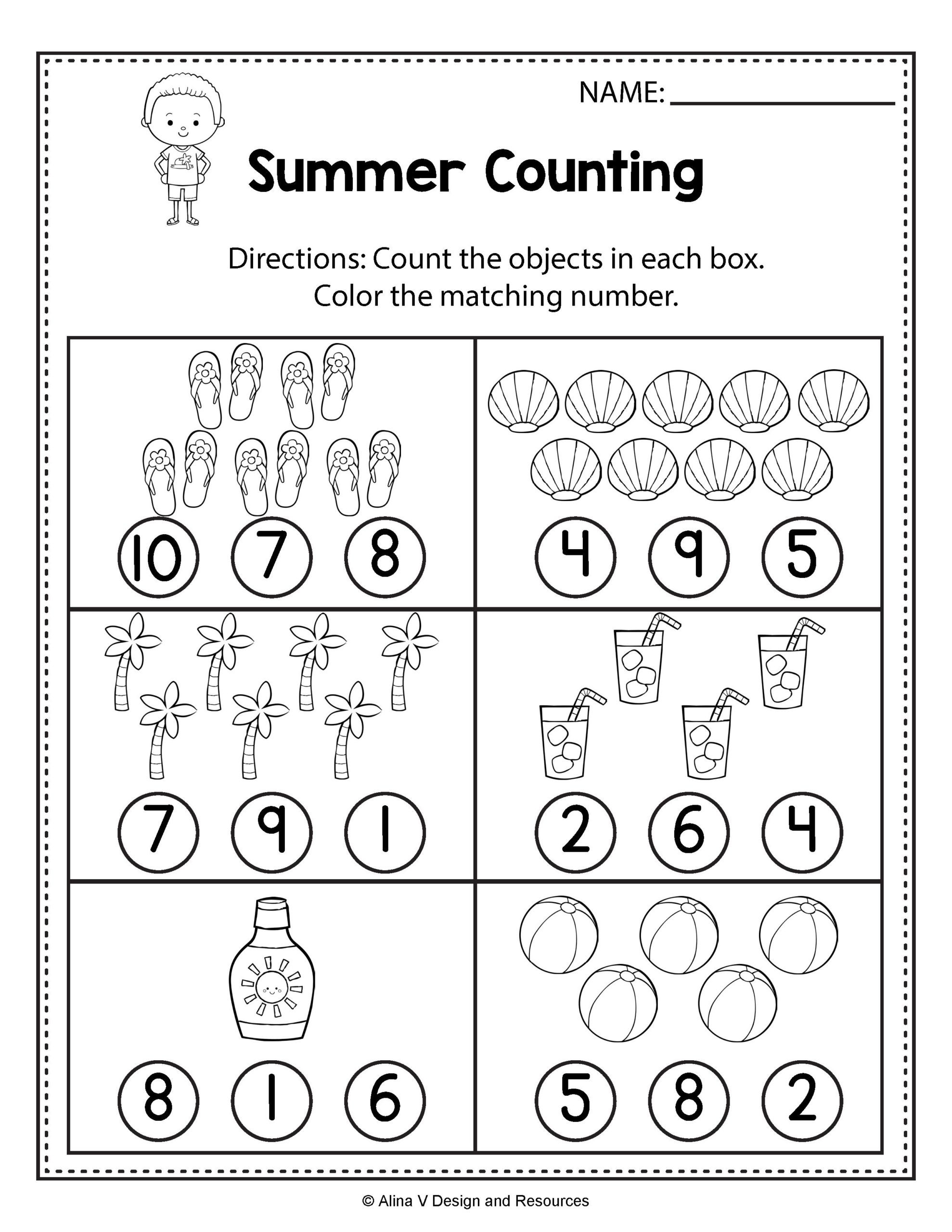 Pre K Math Worksheets Veganarto Number 7 and 8 Worksheets Numbers to 20