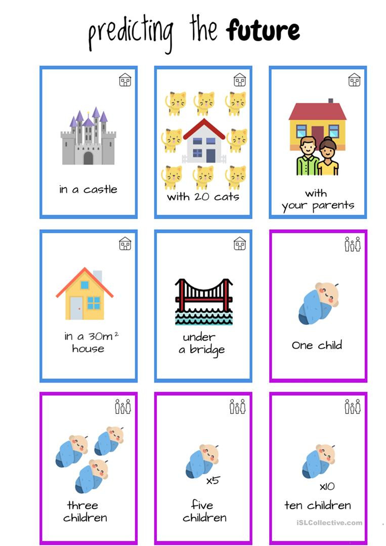 Prediction Worksheets 2nd Grade Predict the Future Game English Esl Worksheets for Distance