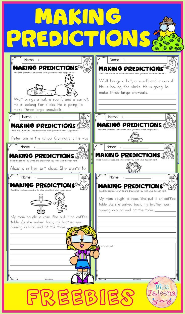 Predictions Worksheets 3rd Grade Free Making Predictions