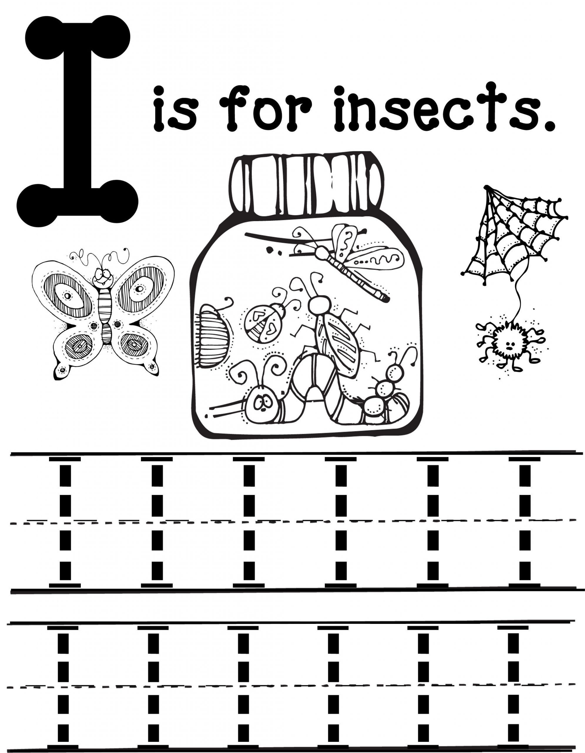Preschool Bug Worksheets I is for Insects Mommy School Oopsey Daisy