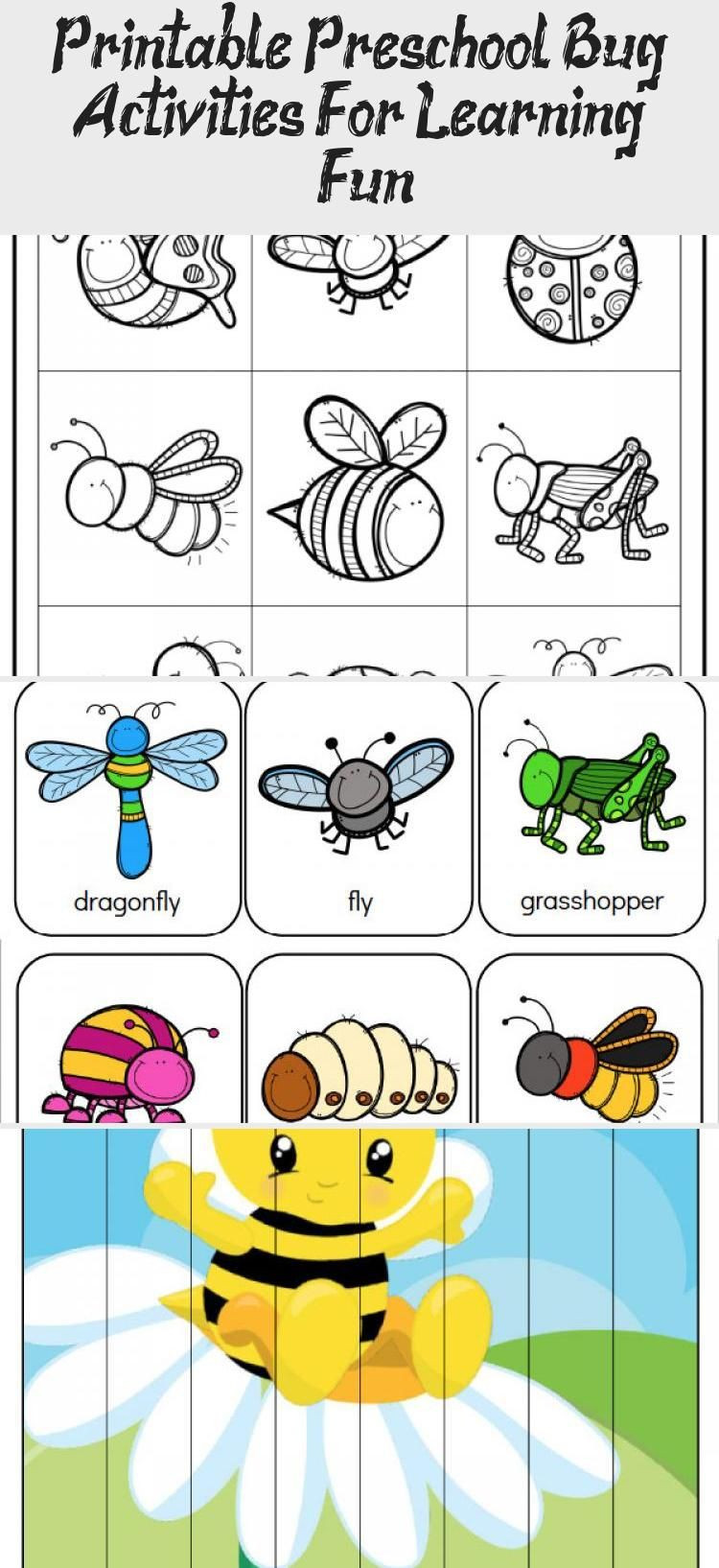 Preschool Bug Worksheets Printable Preschool Bug Activities for Learning & Fun In