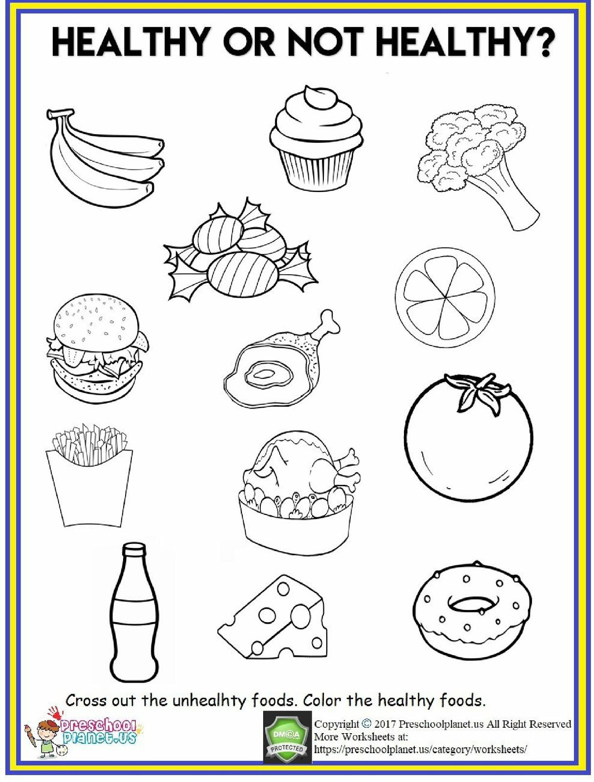 Preschool Fruits and Vegetables Worksheets 4 Food Worksheets Preschool Fruits and Ve Ables