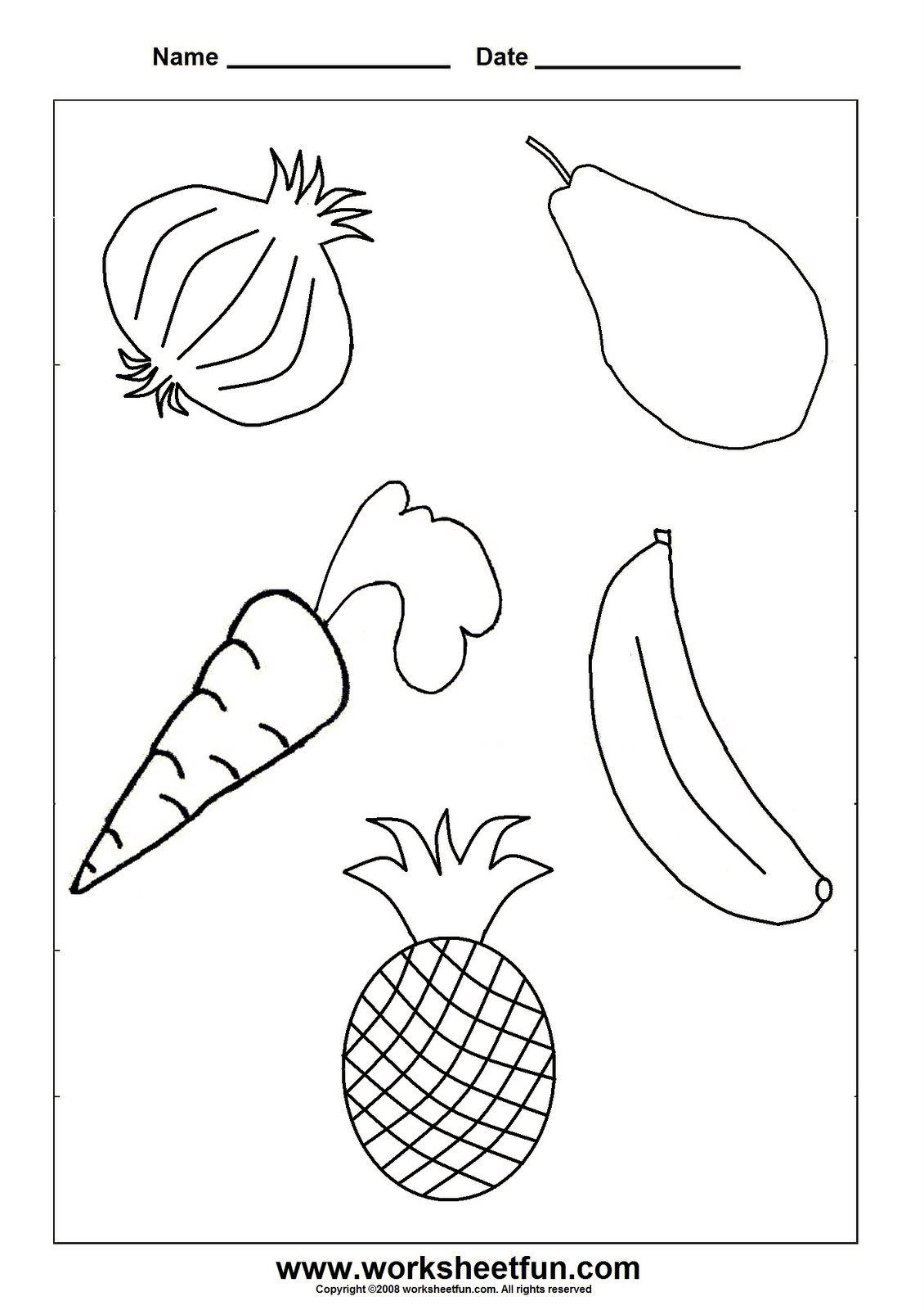 Preschool Fruits and Vegetables Worksheets Тема My Food садочок