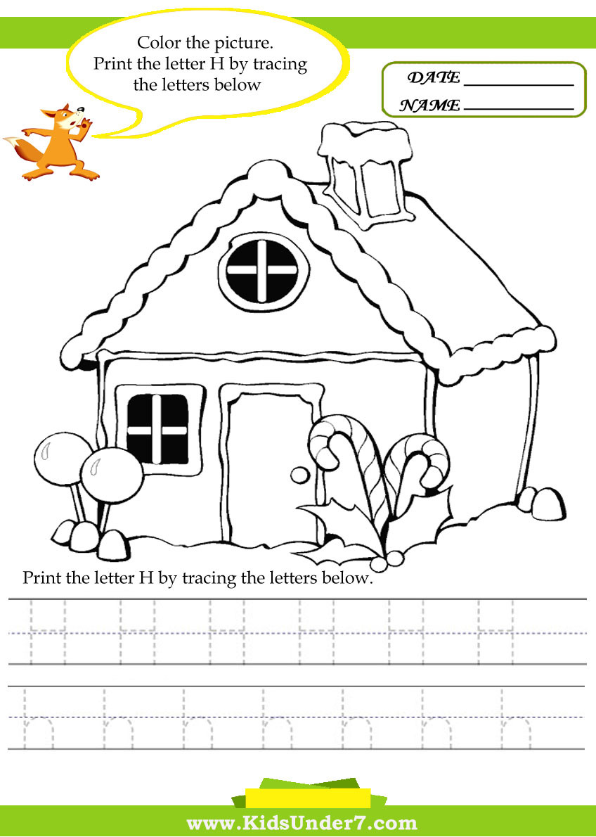Preschool Letter H Worksheets Kids Under 7 Alphabet Worksheets Trace and Print Letter H