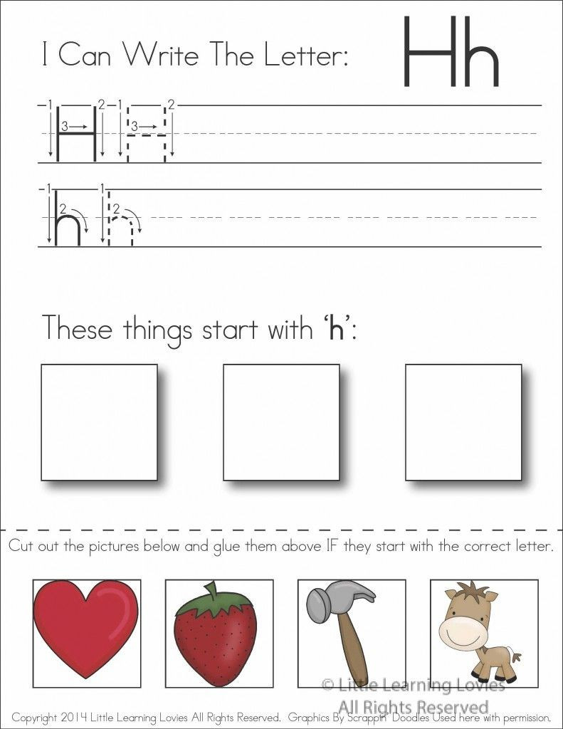 Preschool Letter H Worksheets Pin On Preschool Letter Of the Week