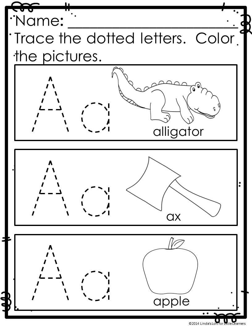 Preschool Letter Recognition Worksheets Abc Practice Trace and Color Printables