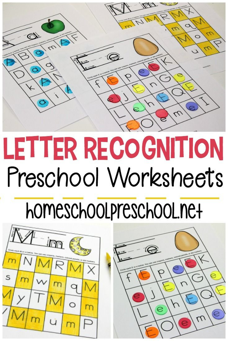 Free Printable Letter Recognition Worksheets for