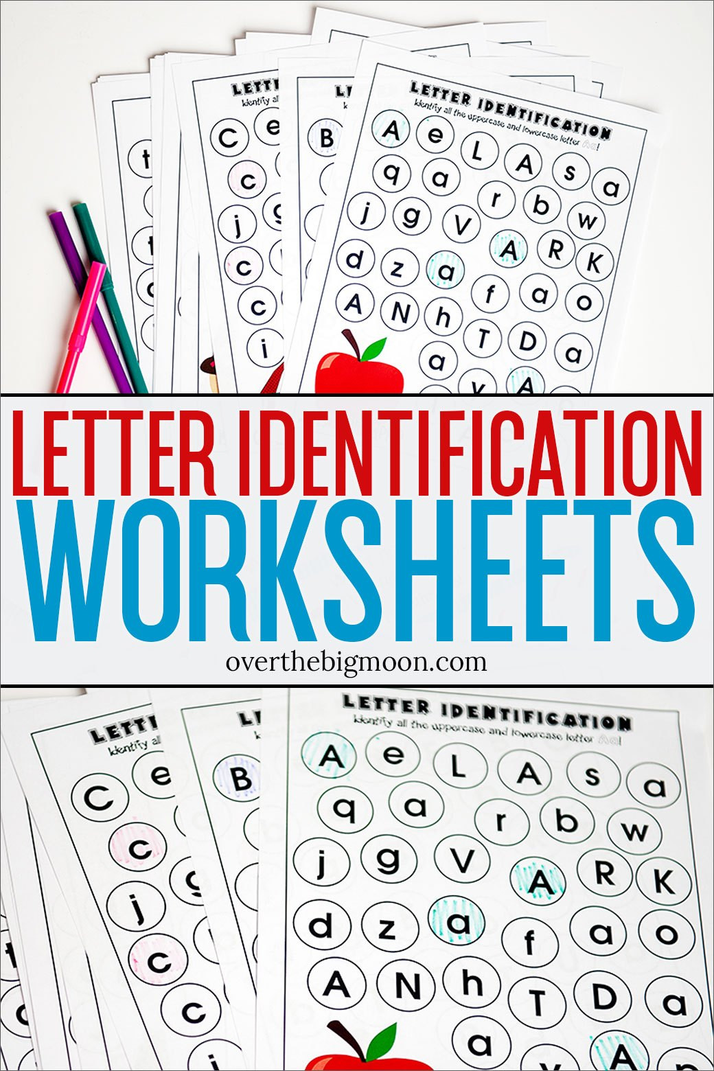 Preschool Letter Recognition Worksheets Full Alphabet Letter Identification Printables