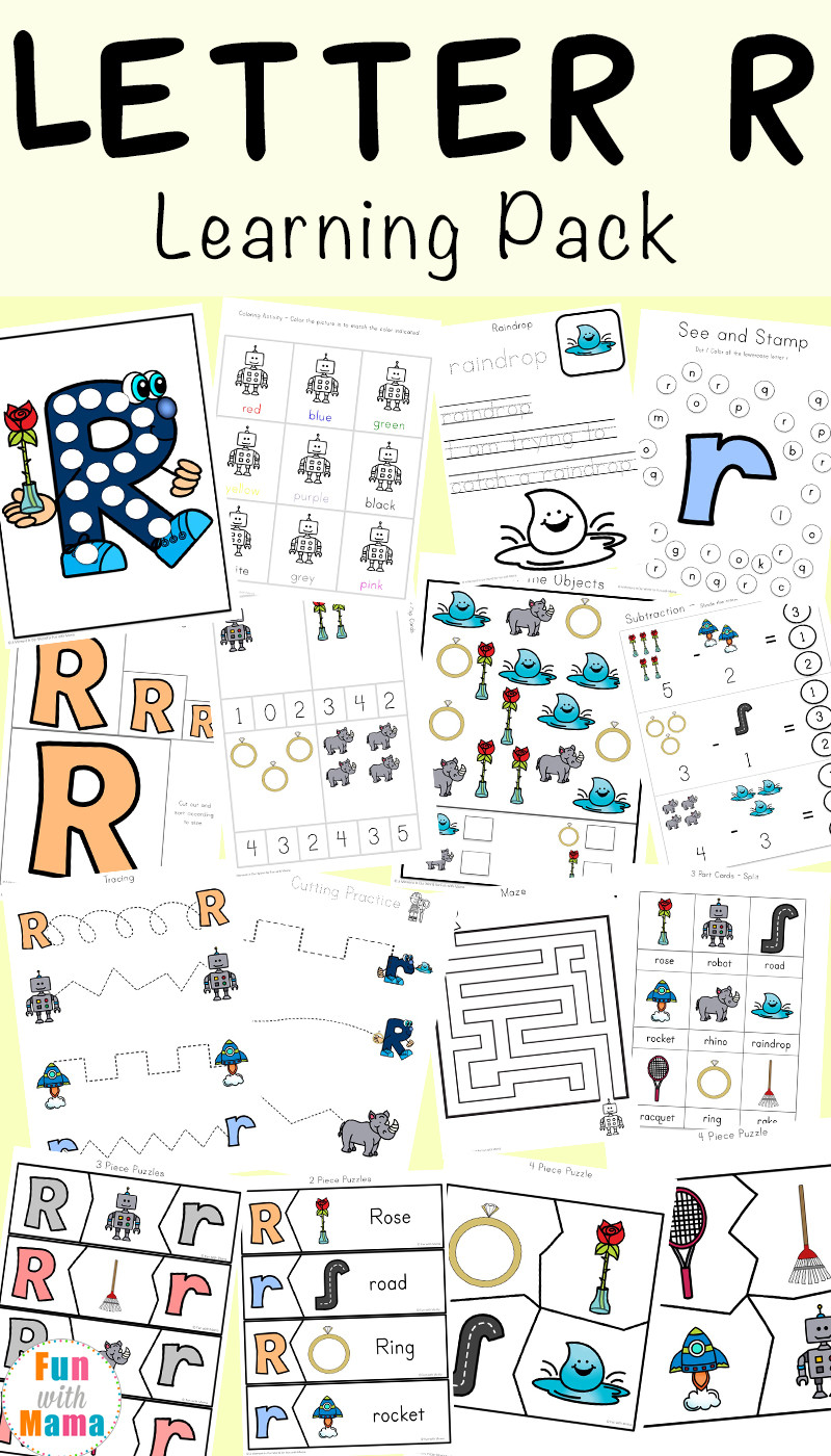 Preschool Letter Recognition Worksheets Letter R Worksheets and Printable Preschool Activities Pack