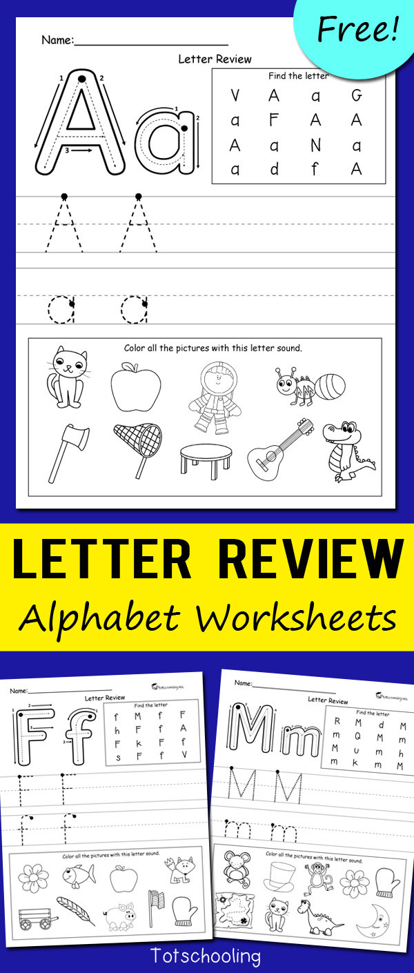 Preschool Letter Recognition Worksheets Letter Review Alphabet Worksheets