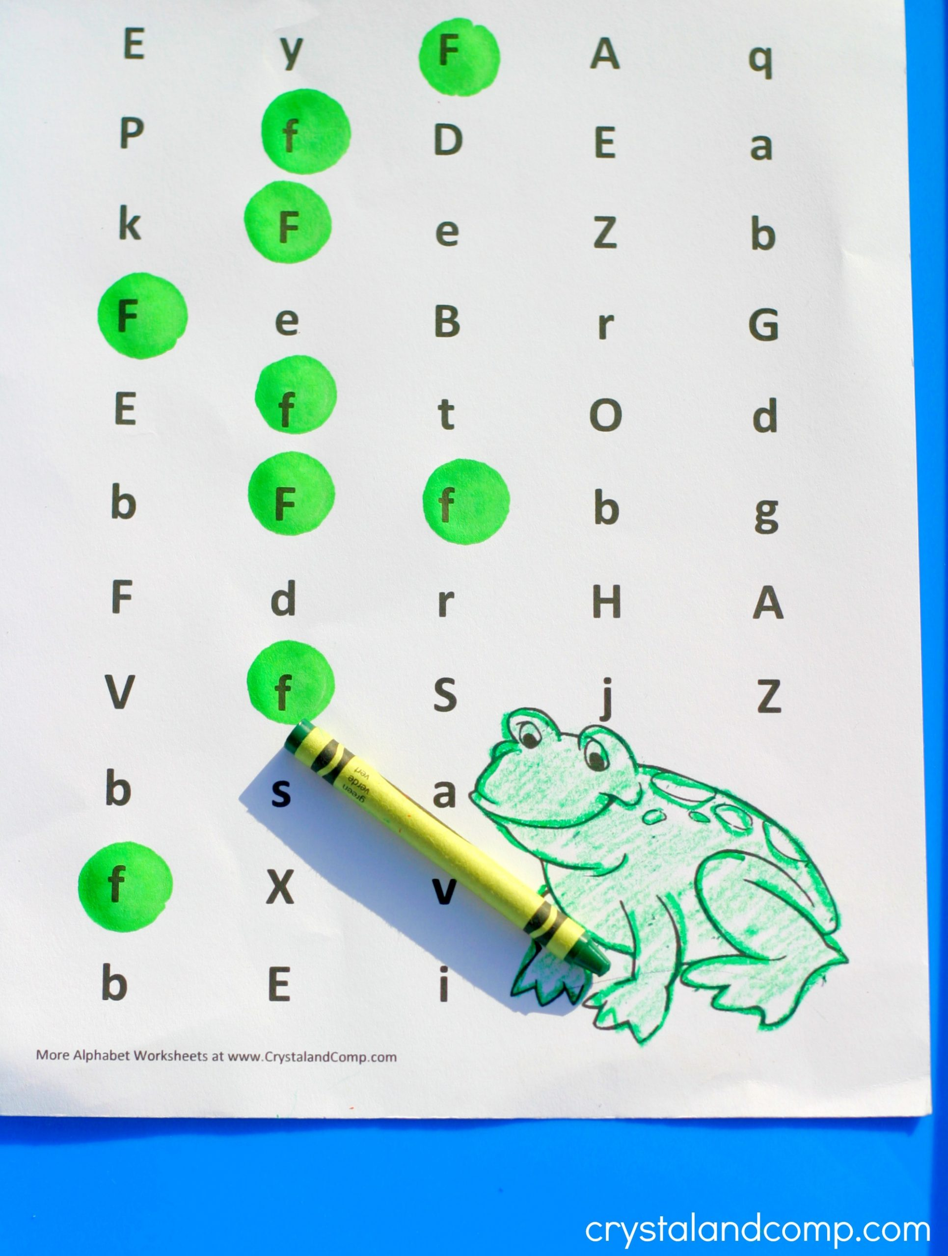Preschool Letter Recognition Worksheets Preschool Letter Worksheets F is for Frog