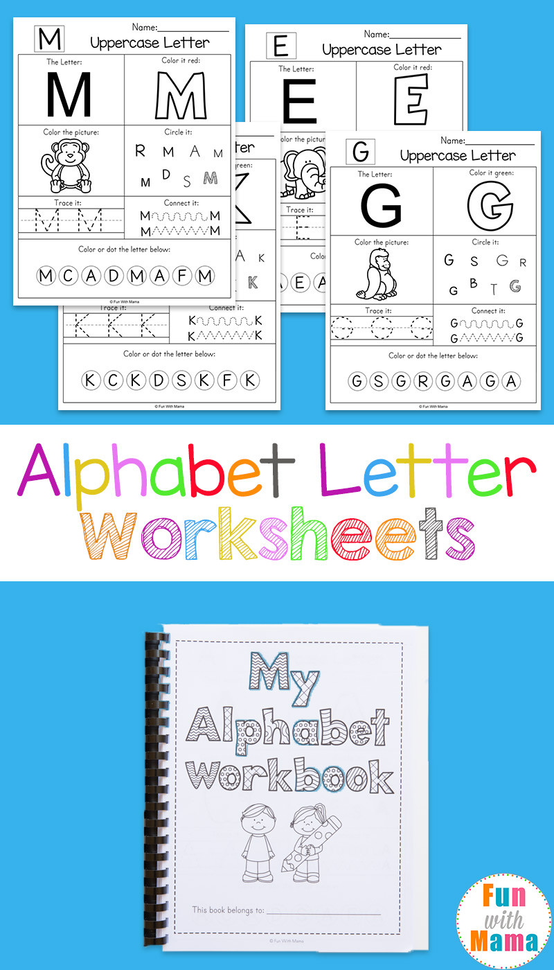 Preschool Letter Recognition Worksheets Printable Alphabet Worksheets to Turn Into A Workbook Fun