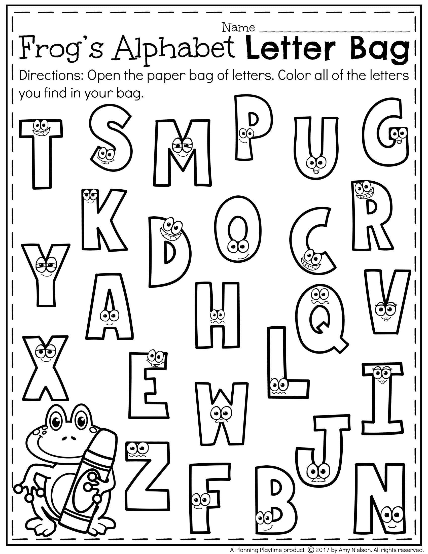 Preschool Letter Recognition Worksheets Printables Preschool Recognition Kindergarten Letter Games
