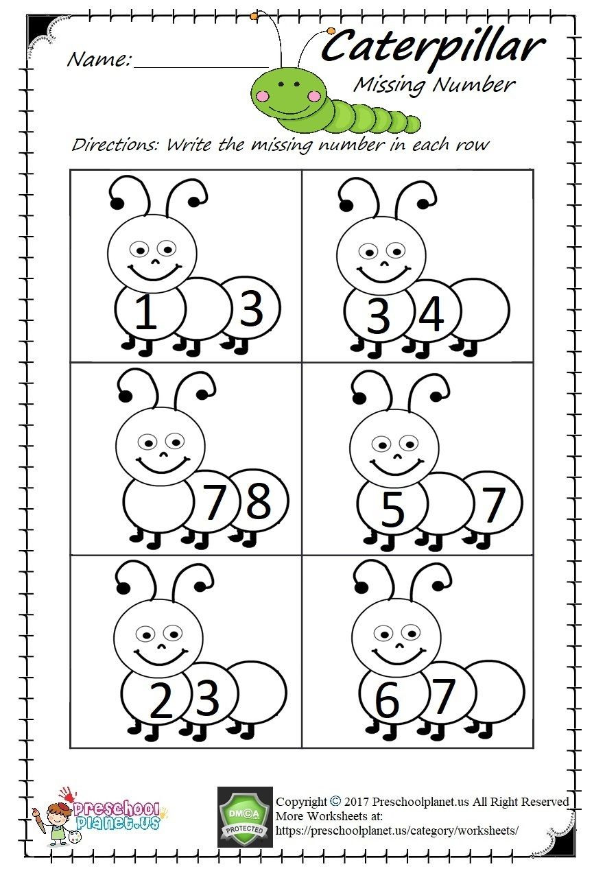 Preschool Math Worksheets Pdf Missing Number Worksheet Pdf