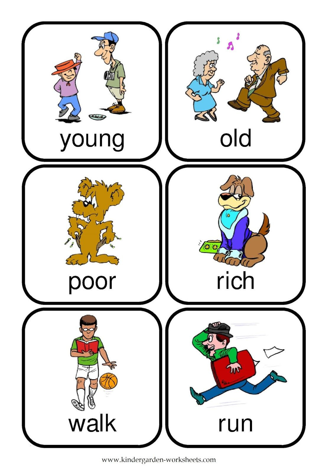 Preschool Opposites Worksheets Word Preschoolers Yahoo Image Search Results