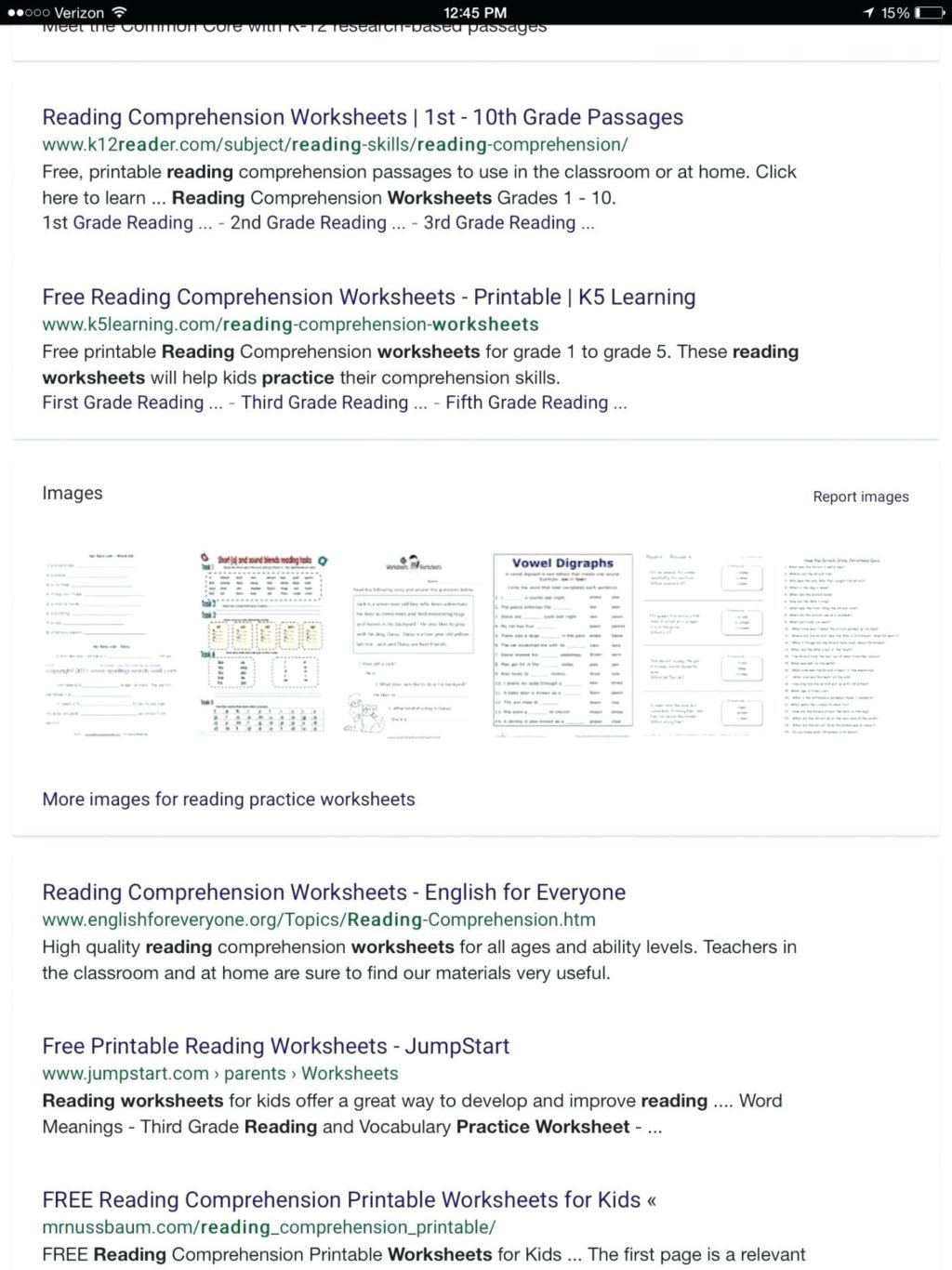 Printable First Grade Reading Worksheets Math Worksheet First Grade Prehensions Test Answers