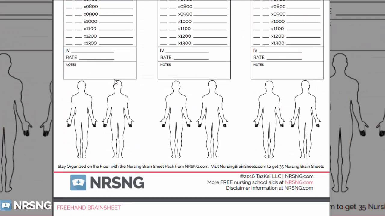 Printable Nurse Report Sheets Nursing Brain Sheets Database [free Download] Templates Of Brainsheets An Report Sheets for Nurses