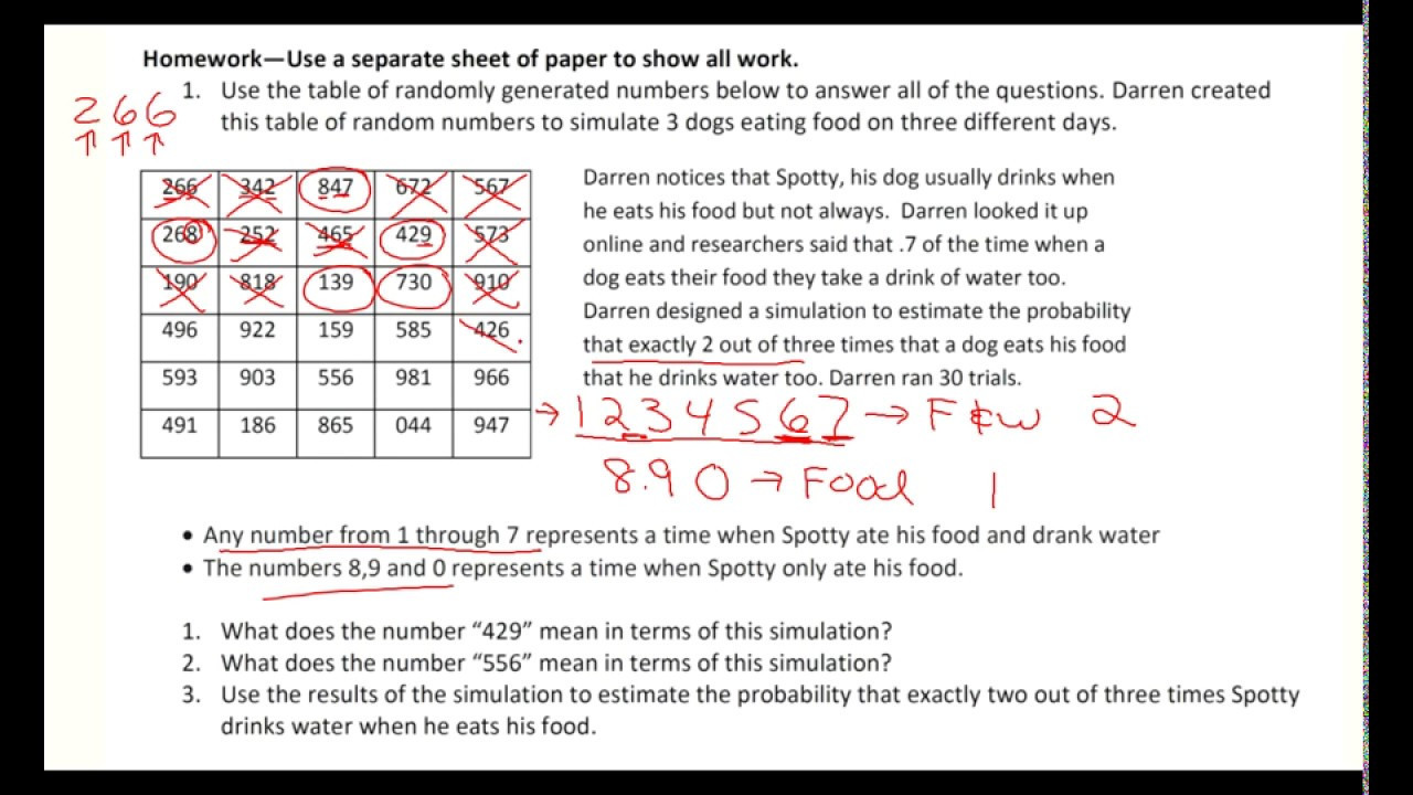 Probability Worksheet 7th Grade Using Simulation to Estimate A Probability Examples