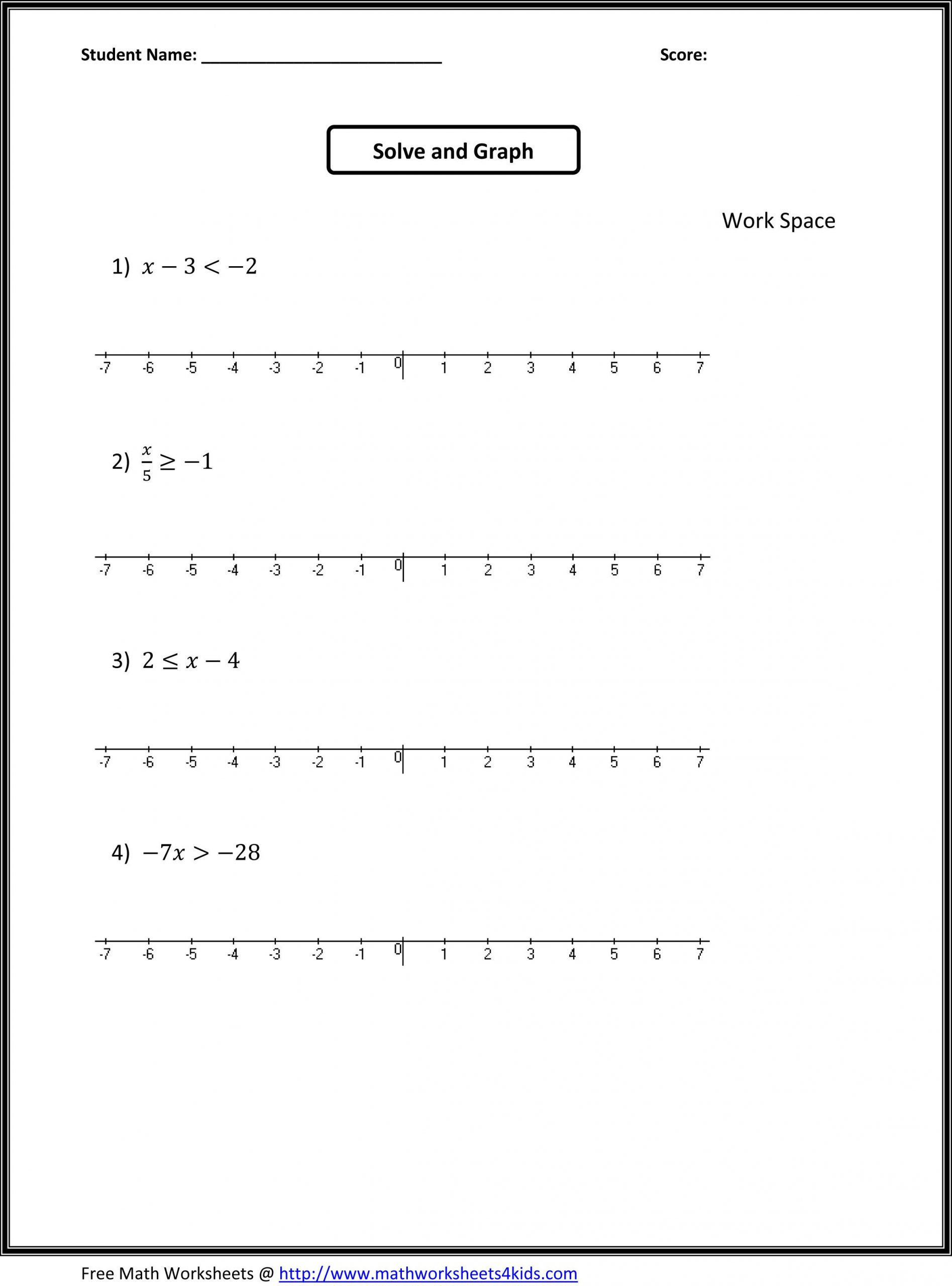Probability Worksheets 7th Grade Pdf Math Worksheets Grade 7 and 8