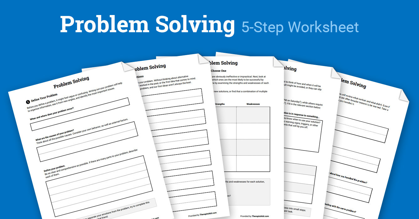 Problem solving Skills Worksheets Problem solving Packet Worksheet