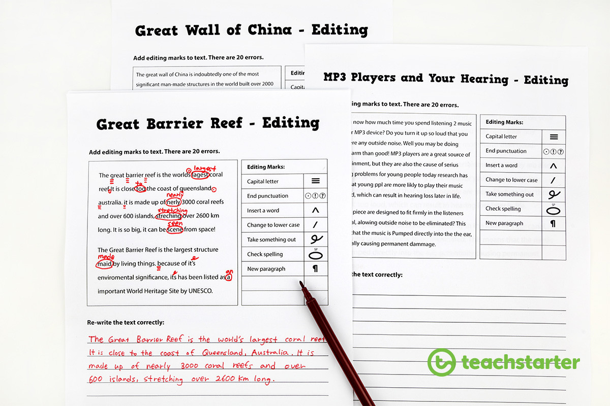Proofreading Worksheets High School 30 Resources and Tips to Help Your Students Love Editing