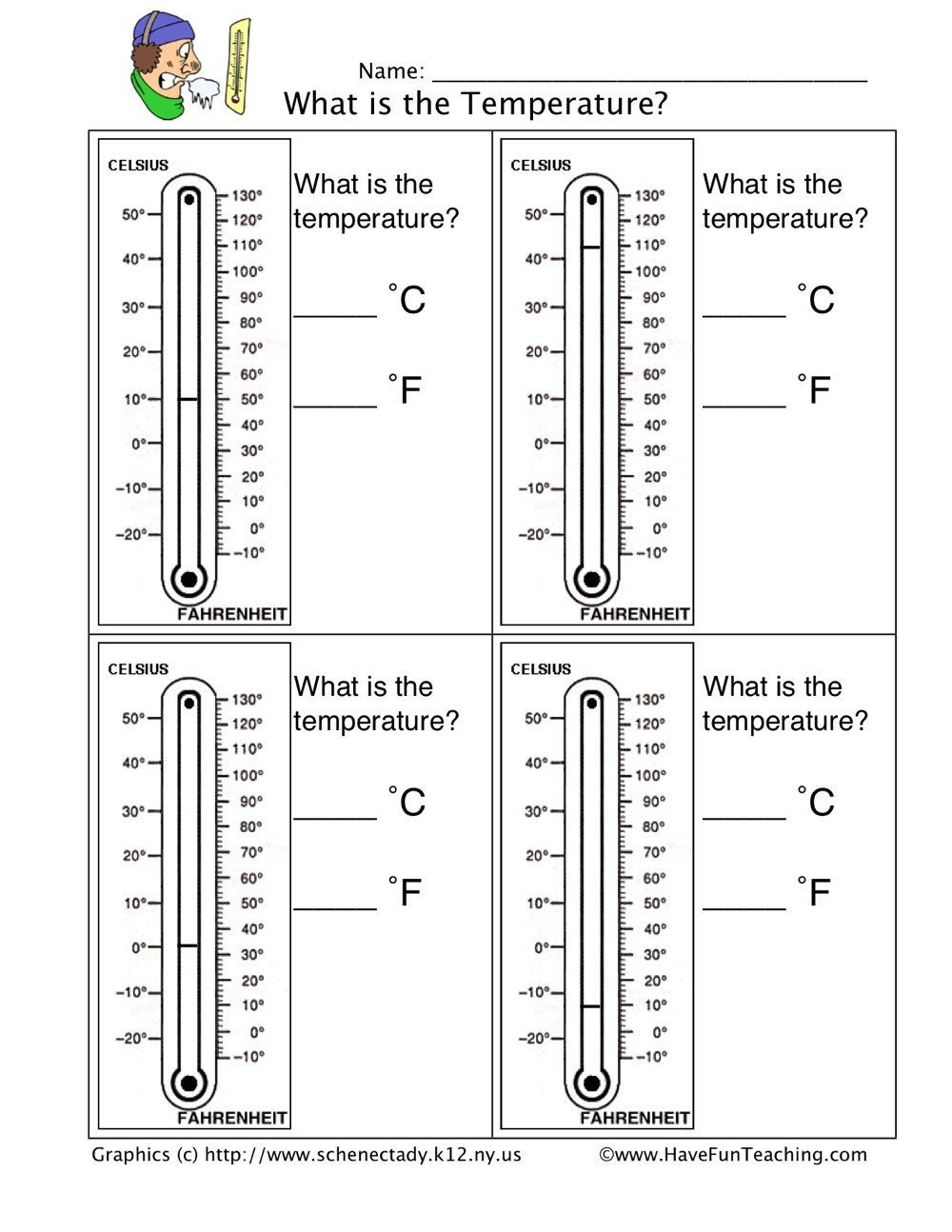 Read A thermometer Worksheet Read A thermometer Worksheet In 2020