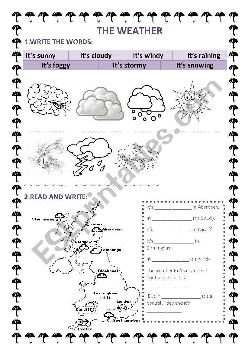 Read A Weather Map Worksheet the Weather Esl Worksheet by Advanta