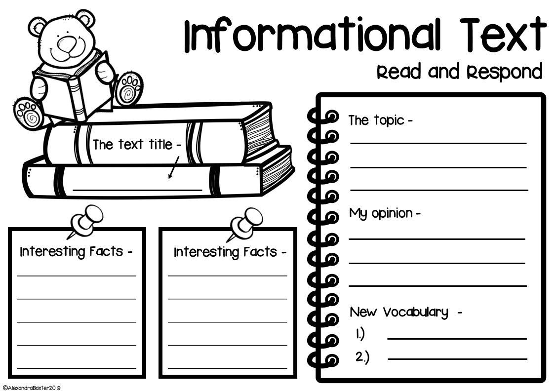 Read and Respond Worksheet Non Fiction Book Report Worksheets & Graphic organizers