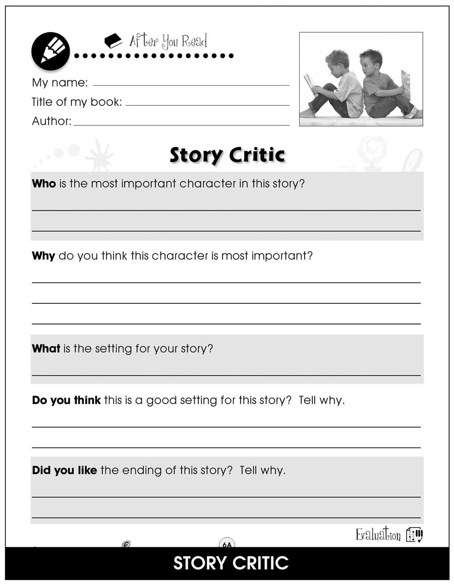 Read and Response Worksheets Reading Response forms Bonus Worksheets Grades 1 to 2