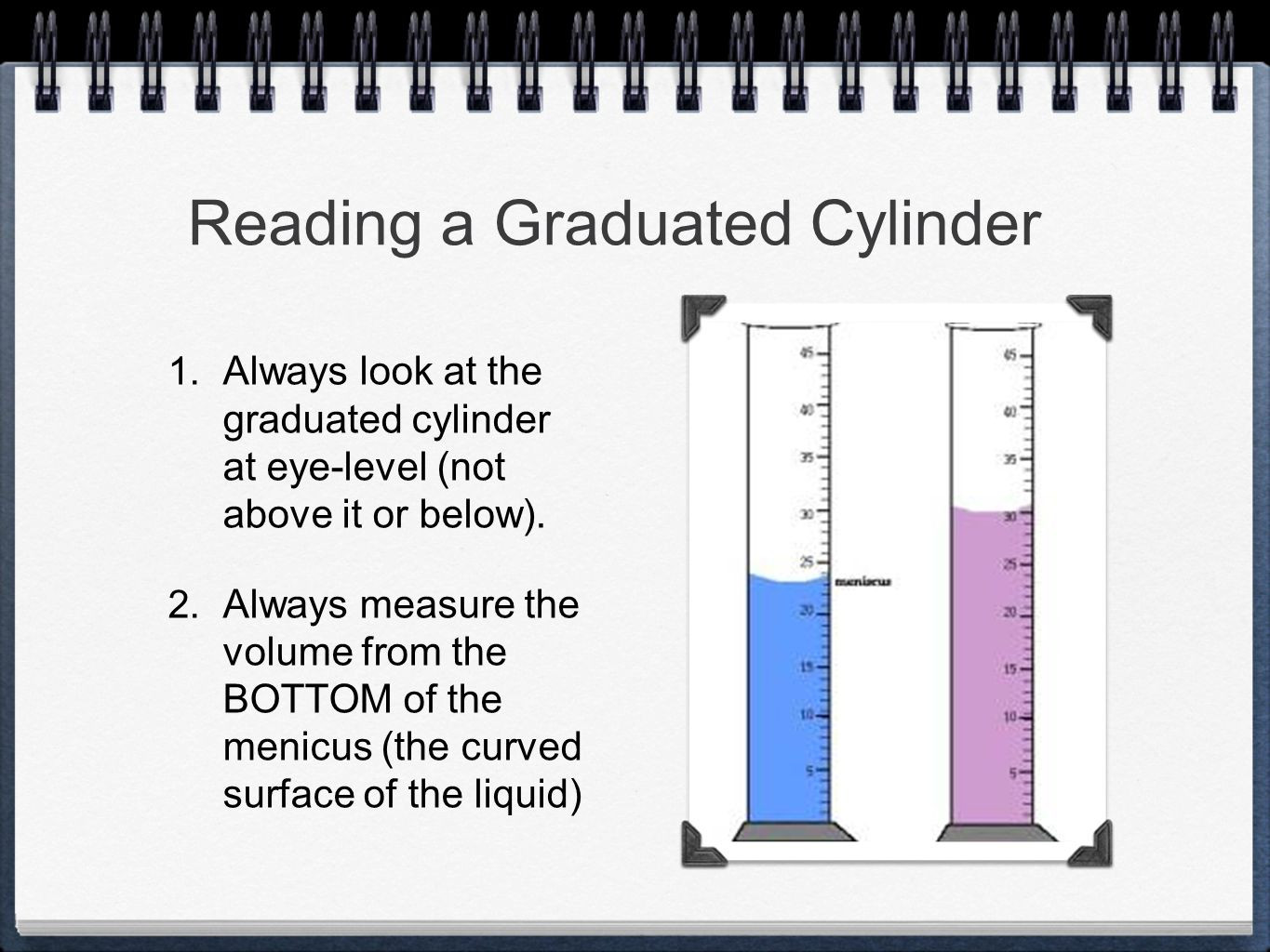 Reading A Graduated Cylinder Worksheet Measurement and Dimensional Analysis Ppt Video Online