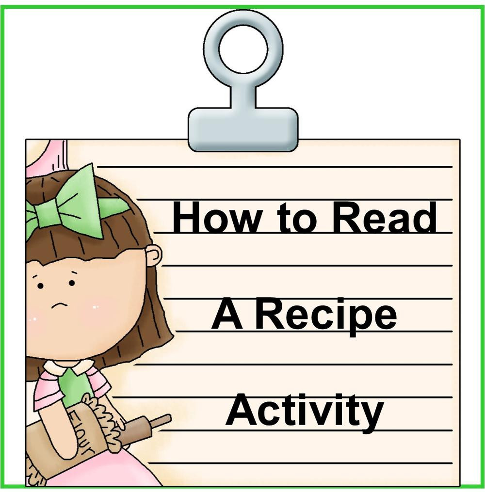 Reading A Recipe Worksheet How to Read A Recipe Worksheets