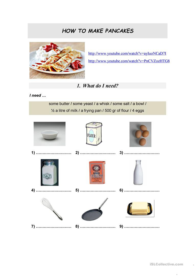 Reading A Recipe Worksheet Reading A Recipe Worksheet Promotiontablecovers