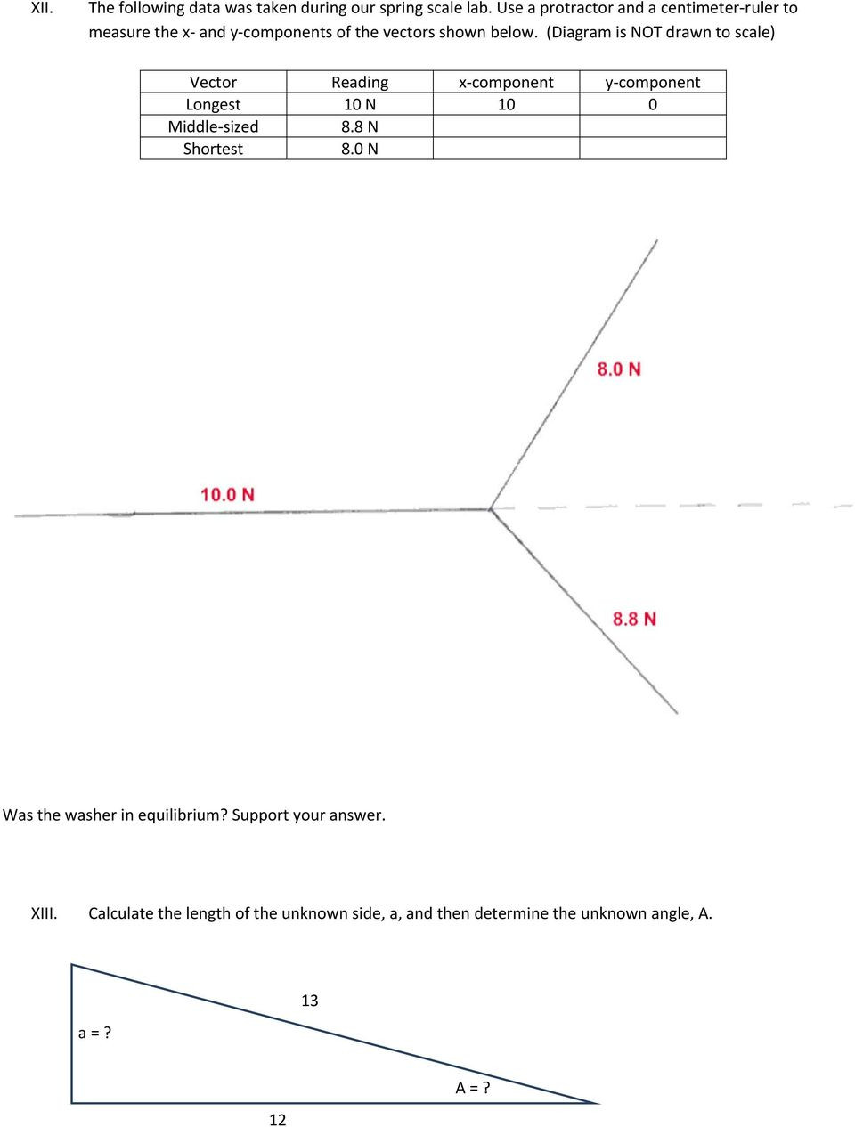 Reading A Spring Scale Worksheet Worksheet to Review Vector and Scalar Properties Pdf Free
