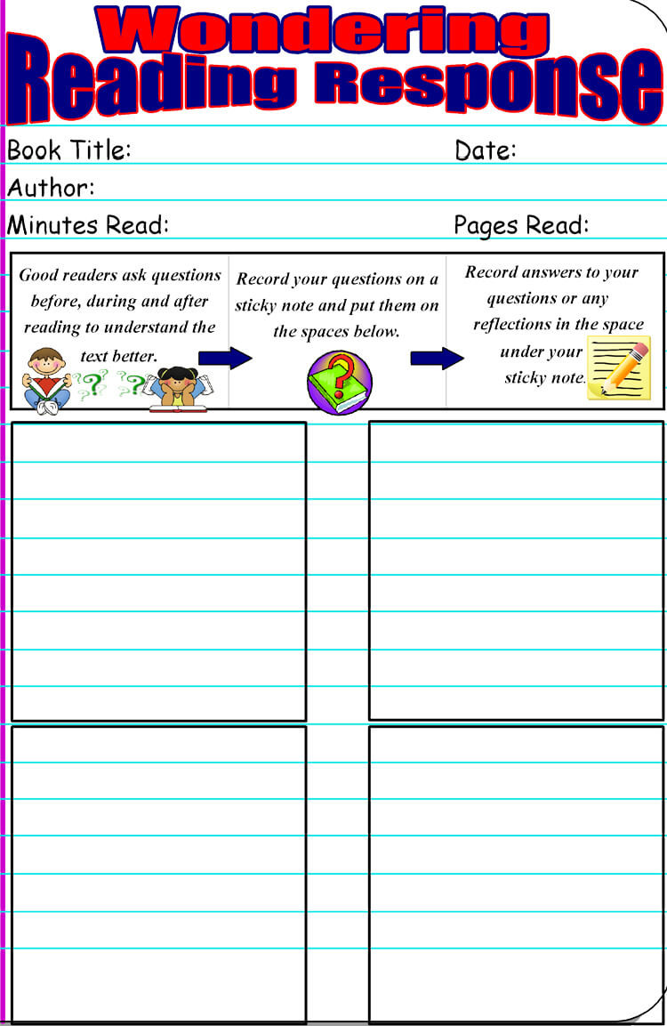 Reading and Responding Worksheets 14 Free Reading Response Worksheet Templates Word Pdf