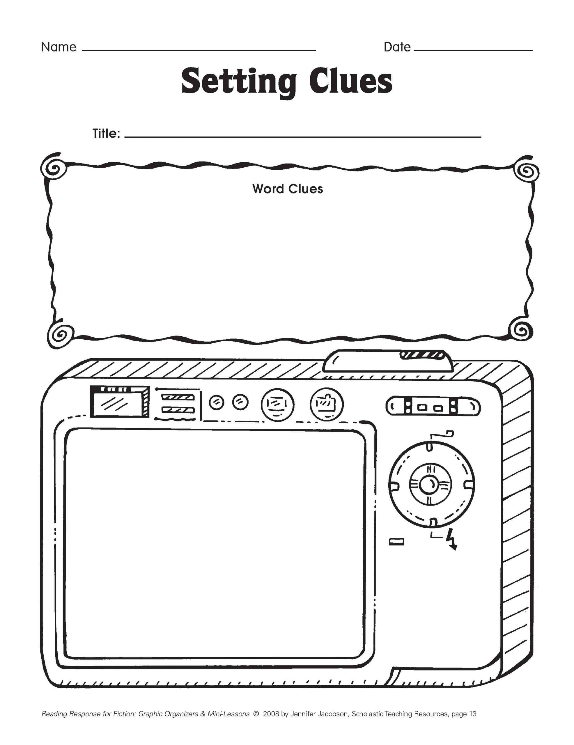 Reading and Responding Worksheets Five Minute Reading Responses
