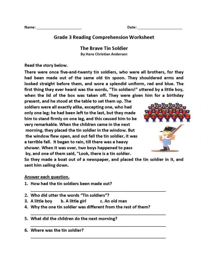 Reading Comprehension Worksheets 6th Grade Reading Prehension Worksheets