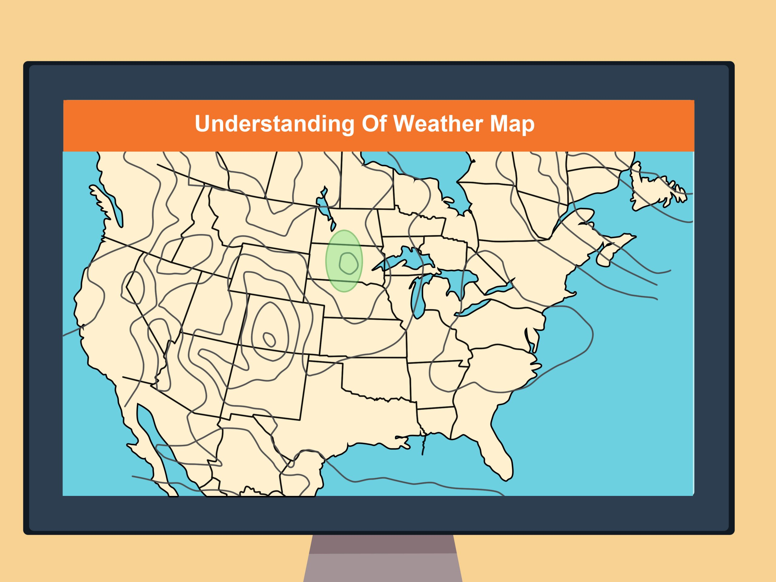 Reading Weather Maps Worksheet How to Read A Weather Map with Wikihow