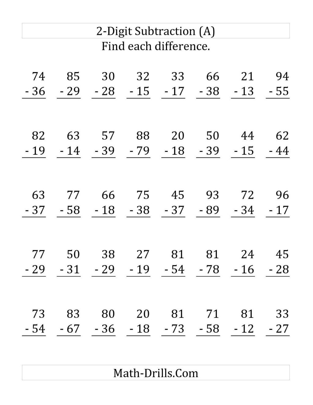 Regrouping Subtraction Worksheets 3rd Grade Worksheet Digit Addition Regrouping Printable Worksheet